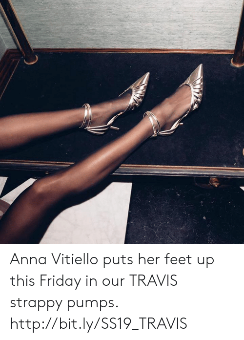 pumps: Anna Vitiello puts her feet up this Friday in our TRAVIS strappy pumps.  http://bit.ly/SS19_TRAVIS