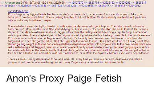 Paige interview proxy The face