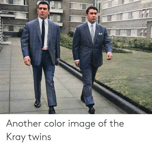 Twins: Another color image of the Kray twins