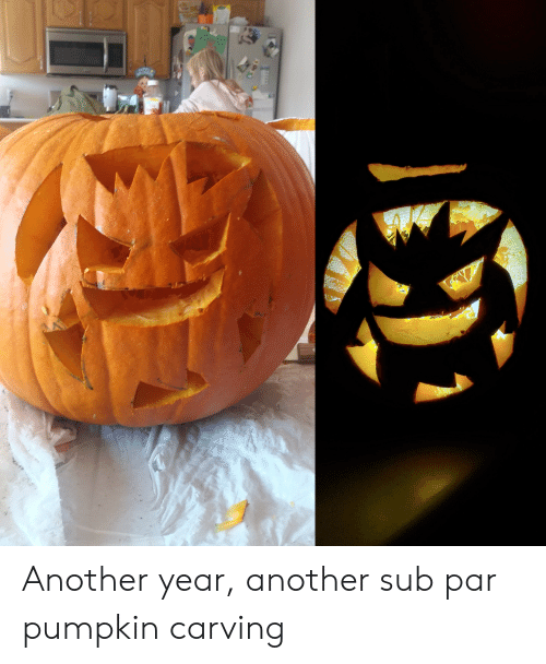 Pumpkin: Another year, another sub par pumpkin carving