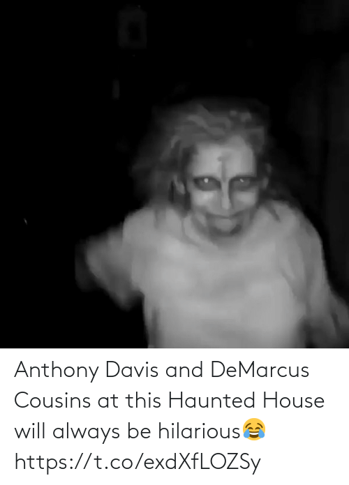 haunted house: Anthony Davis and DeMarcus Cousins at this Haunted House will always be hilarious😂 https://t.co/exdXfLOZSy