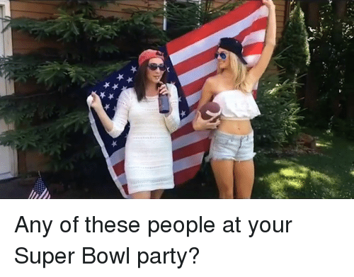 Memes, 🤖, and Super-Bowl-Party: Any of these people at your Super Bowl party?