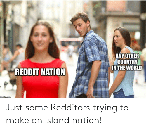 Reddit, World, and Cam: ANY OTHER  COUNTRY  IN THE WORLD  REDDIT NATION  ngflp cam Just some Redditors trying to make an Island nation!