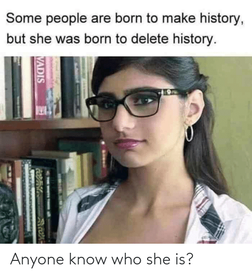 Know Who: Anyone know who she is?
