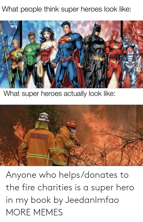 In My: Anyone who helps/donates to the fire charities is a super hero in my book by Jeedanlmfao MORE MEMES