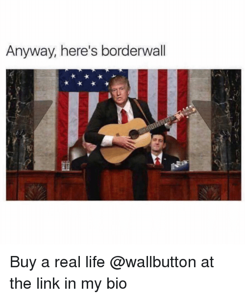 Life, Memes, and Link: Anyway, here's borderwall Buy a real life @wallbutton at the link in my bio
