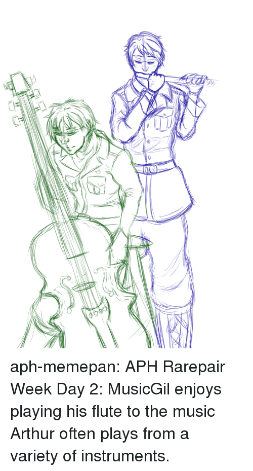 Arthur, Music, and Target: aph-memepan:    APH Rarepair Week Day 2: MusicGil enjoys playing his flute to the music Arthur often plays from a varietyof instruments.