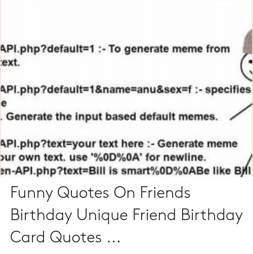 API default 1To Generate Meme From Ext API default=1&