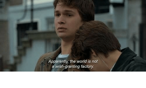 Apparently, World, and The World: Apparently, the world is not  a wish-granting factory