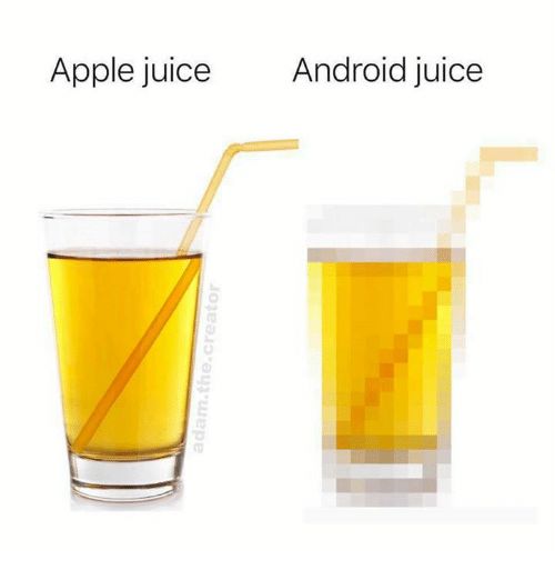 Android, Apple, and Juice: Apple juice  Android juice