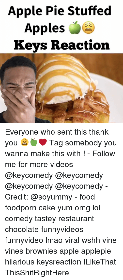 Lol Comedy: Apple Pie Stuffed  Apples  Keys Reaction Everyone who sent this thank you 😩🍏❤️ Tag somebody you wanna make this with ! - Follow me for more videos @keycomedy @keycomedy @keycomedy @keycomedy - Credit: @soyummy - food foodporn cake yum omg lol comedy tastey restaurant chocolate funnyvideos funnyvideo lmao viral wshh vine vines brownies apple applepie hilarious keysreaction ILikeThat ThisShitRightHere