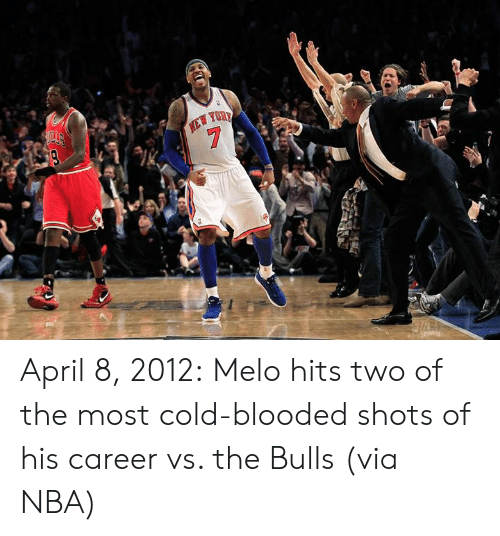 Bulls: April 8, 2012:  Melo hits two of the most cold-blooded shots of his career vs. the Bulls (via NBA)