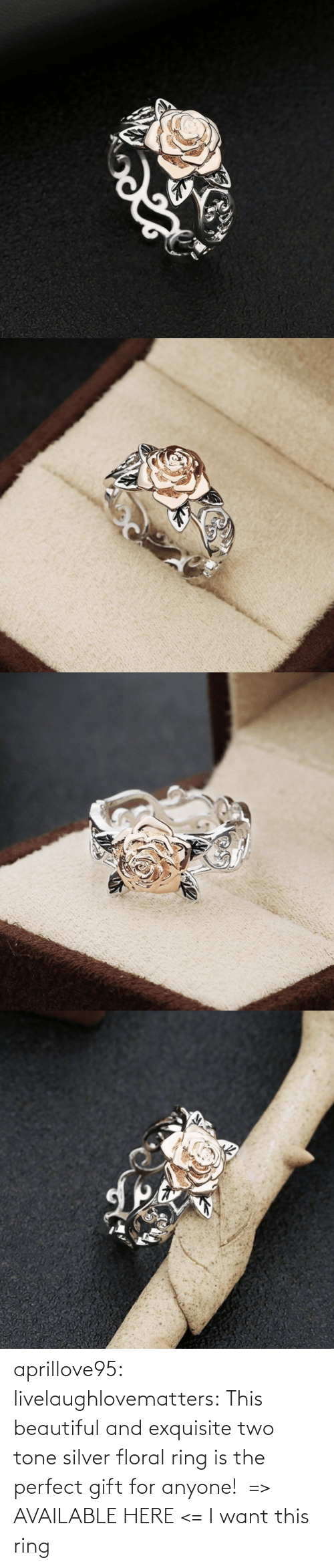 want: aprillove95: livelaughlovematters:  This beautiful and exquisite two tone silver floral ring is the perfect gift for anyone! => AVAILABLE HERE <=    I want this ring