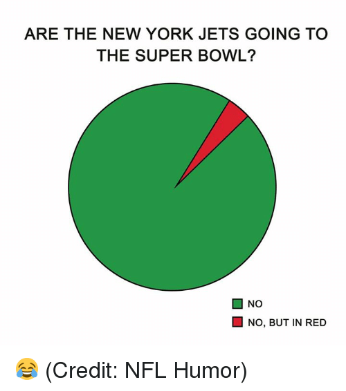 New York Jets: ARE THE NEW YORK JETS GOING TO  THE SUPER BOWL?  ■ NO  NO, BUT IN RED 😂 (Credit: NFL Humor)