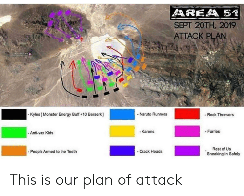 AREA 51 SEPT 20TH 2019 ATTACK PLAN - Naruto Runners Kyles