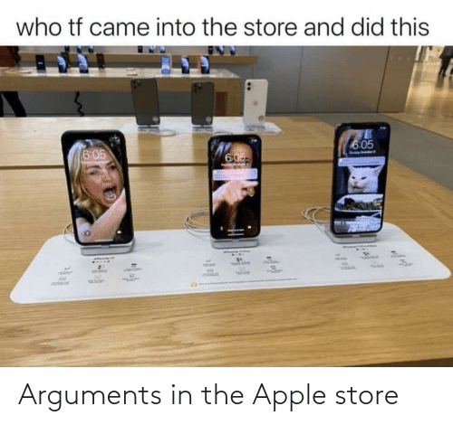 Apple Store: Arguments in the Apple store