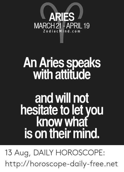 aries horoscope 13 march