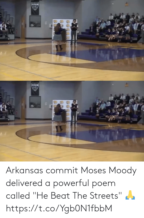"""called: Arkansas commit Moses Moody delivered a powerful poem called """"He Beat The Streets"""" 🙏  https://t.co/Ygb0N1fbbM"""