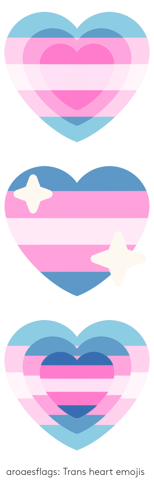Target, Tumblr, and Blog: aroaesflags:  Trans heart emojis