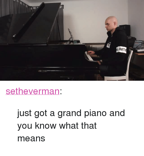 "Tumblr, Blog, and Http: (ART <p><a href=""http://setheverman.tumblr.com/post/166891118673/just-got-a-grand-piano-and-you-know-what-that"" class=""tumblr_blog"">setheverman</a>:</p> <blockquote><p>  just got a grand piano and you know what that means<br/></p></blockquote>"