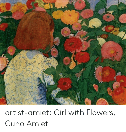 Tumblr, Blog, and Flowers: artist-amiet:  Girl with Flowers, Cuno Amiet