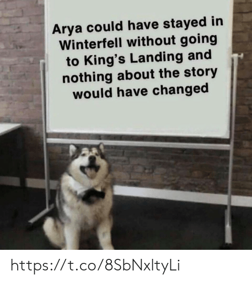 Arya: Arya could have stayed in  Winterfell without going  to King's Landing and  nothing about the story  would have changed https://t.co/8SbNxltyLi