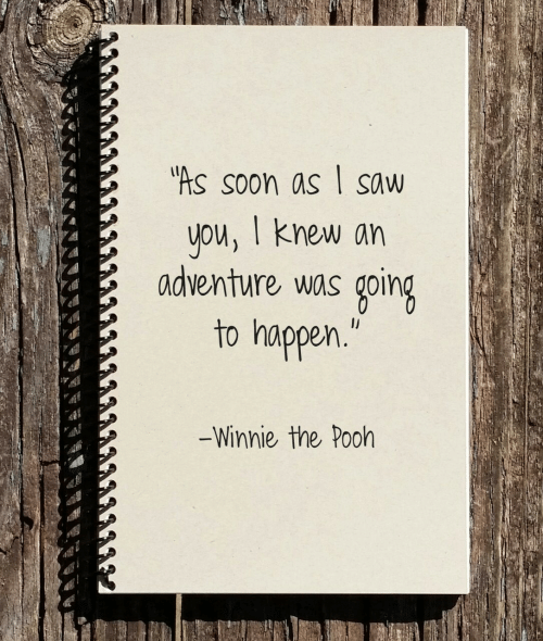 Winnie the Pooh: As soon as I saw  ou, I knew an  adventure was going  to happen  Winnie the Pooh