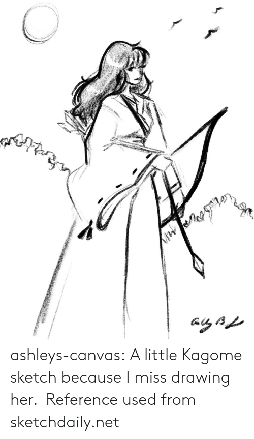 ashleys: ashleys-canvas:  A little Kagome sketch because I miss drawing her. Reference used from sketchdaily.net