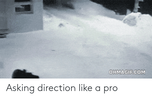 Pro: Asking direction like a pro