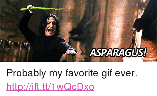 """Favorite Gif: ASPARAGUS! <p>Probably my favorite gif ever. <a href=""""http://ift.tt/1wQcDxo"""">http://ift.tt/1wQcDxo</a></p>"""