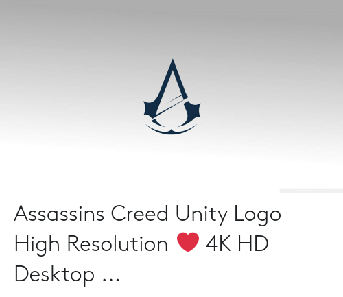 Assassins Creed Unity Logo High Resolution 4k Hd Desktop