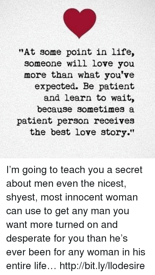 be patient for love