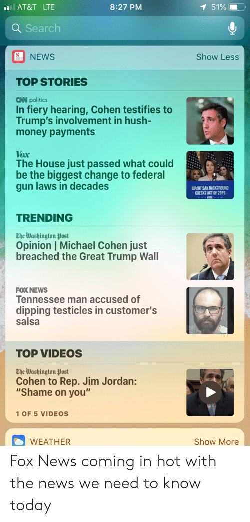 At&T LTE 827 PM 1 51% Search NEWS Show Less TOP STORIES CNN