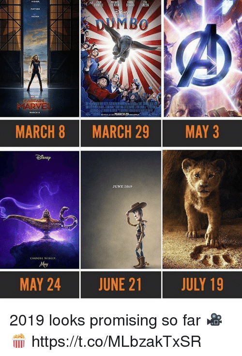 ato: ATO DEVITO GREEN  MARCH  MARCH 8  MARCH 29  MAY 3  JUNE 2019  CHOOSE WISELY  MAY 24  JUNE 21  JULY 19 2019 looks promising so far 🎥🍿 https://t.co/MLbzakTxSR