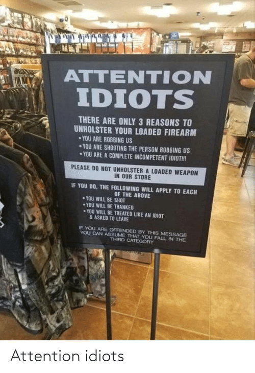 attention: Attention idiots