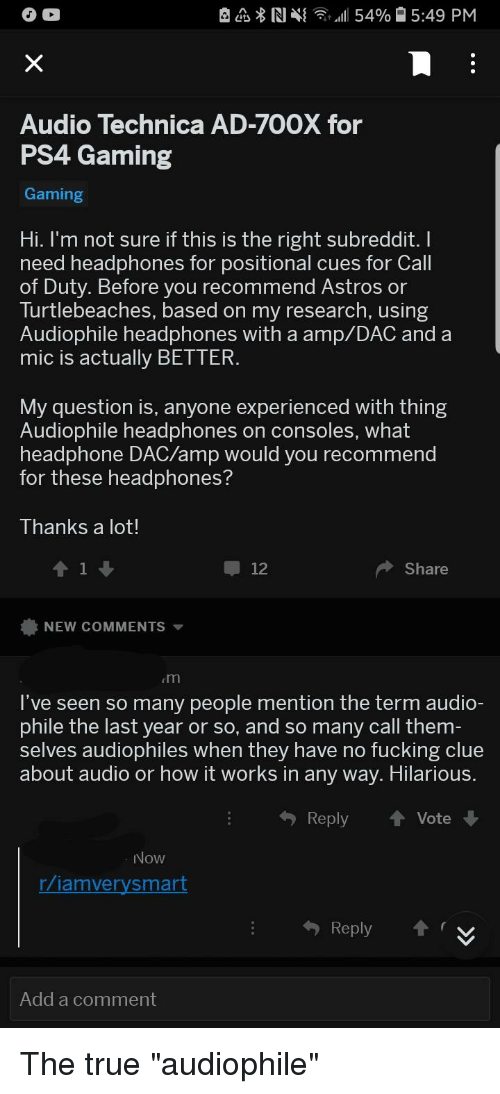 Can people fucking audio excellent idea