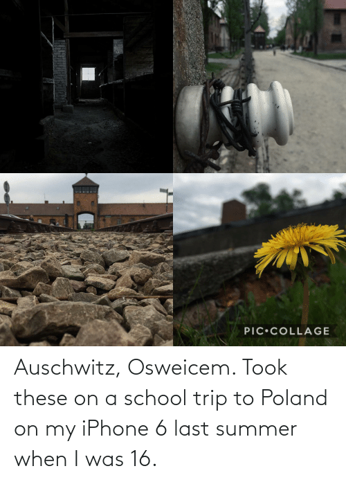 Iphone 6: Auschwitz, Osweicem. Took these on a school trip to Poland on my iPhone 6 last summer when I was 16.