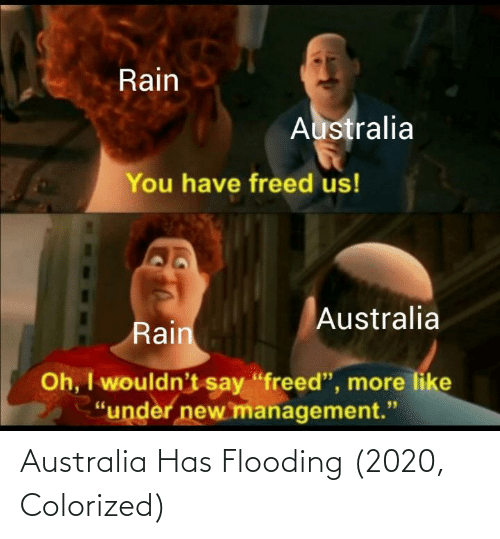 Colorized: Australia Has Flooding (2020, Colorized)