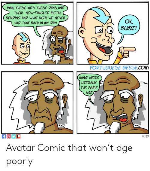 Age: Avatar Comic that won't age poorly