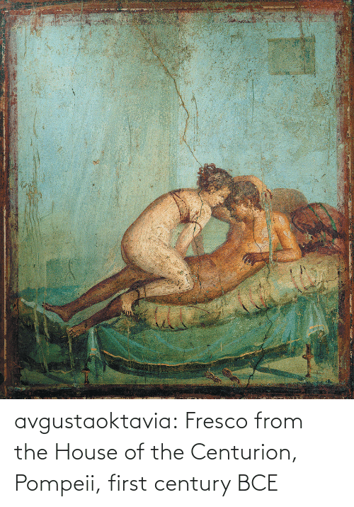From: avgustaoktavia:   Fresco from the House of the Centurion, Pompeii, first century BCE