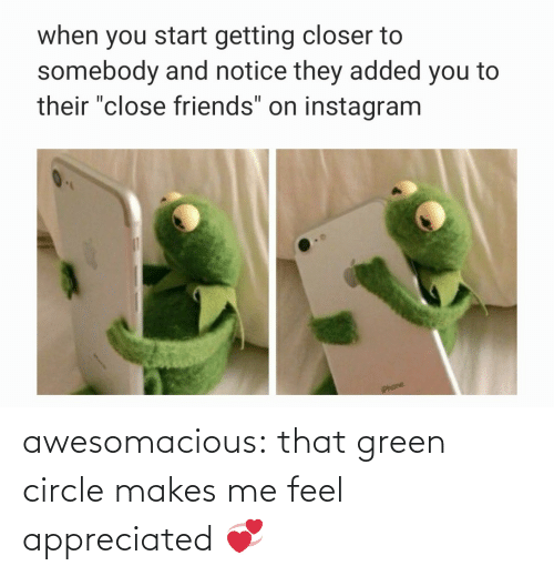 Tumblr, Blog, and Com: awesomacious:  that green circle makes me feel appreciated 💞