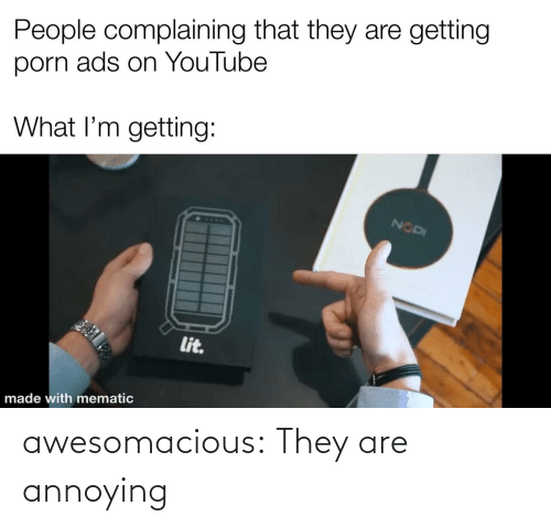 tumblr blog: awesomacious:  They are annoying