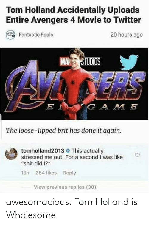 Wholesome: awesomacious:  Tom Holland is Wholesome