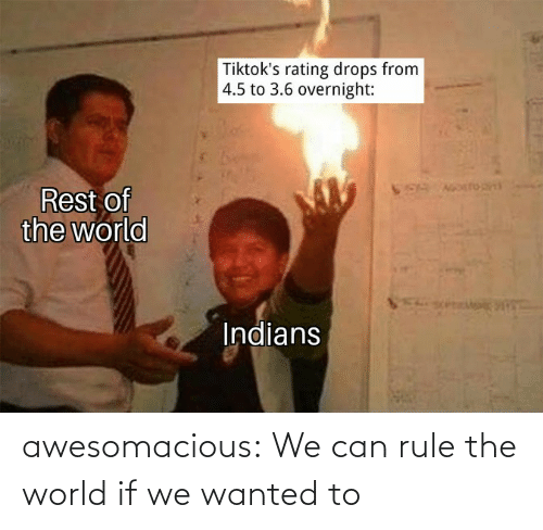 Rule: awesomacious:  We can rule the world if we wanted to