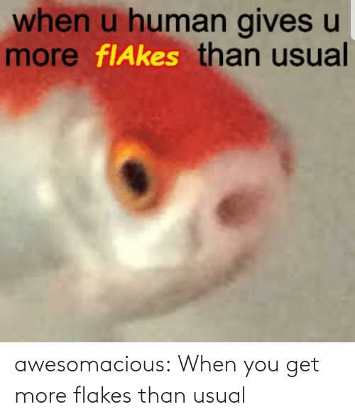 usual: awesomacious:  When you get more flakes than usual
