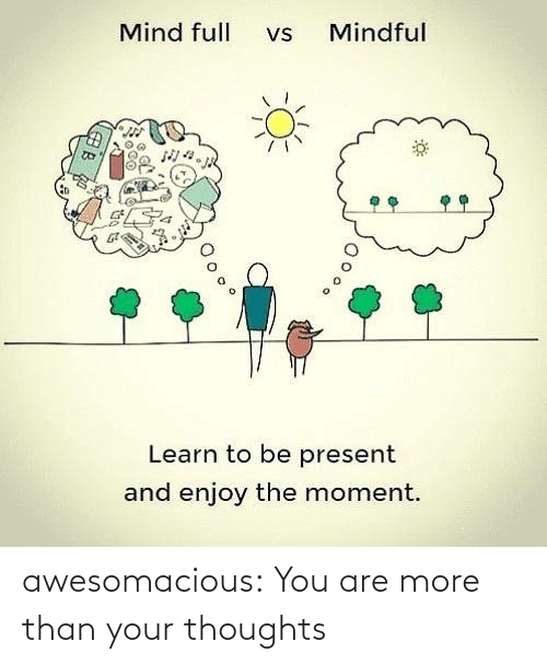 You Are: awesomacious:  You are more than your thoughts