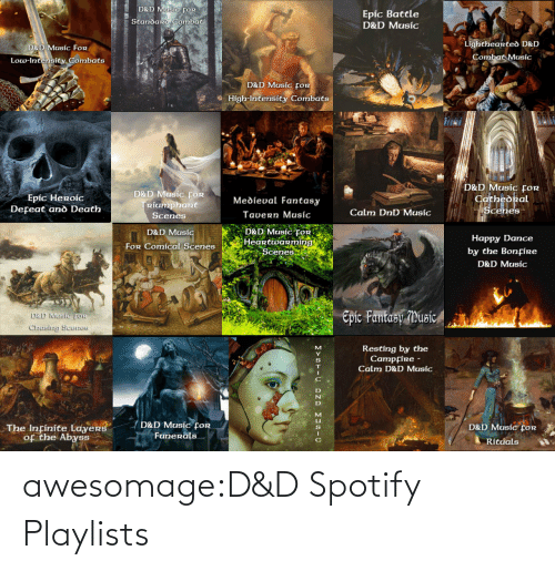 DnD: awesomage:D&D Spotify Playlists