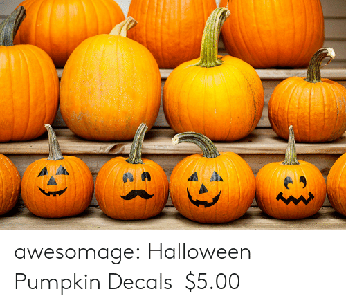 Halloween, Tumblr, and Blog: awesomage:  Halloween Pumpkin Decals  $5.00