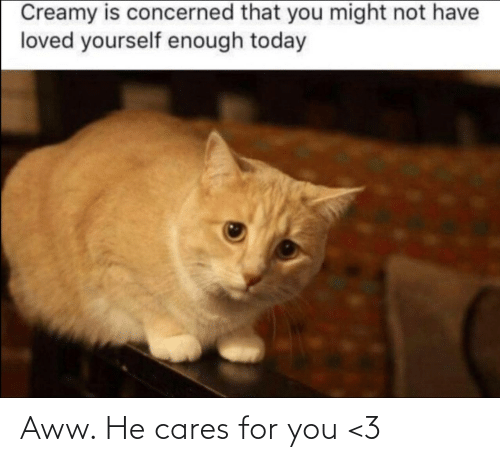 Cares: Aww. He cares for you <3