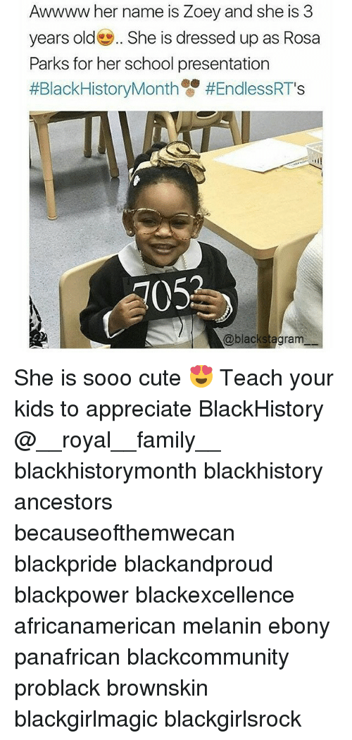 blackhistory: Awwww her name is Zoey and she is 3  years old She is dressed up as Rosa  Parks for her school presentation  #BlackHistoryMonth雙#EndlessRTs  105  @blackstagram She is sooo cute 😍 Teach your kids to appreciate BlackHistory @__royal__family__ blackhistorymonth blackhistory ancestors becauseofthemwecan blackpride blackandproud blackpower blackexcellence africanamerican melanin ebony panafrican blackcommunity problack brownskin blackgirlmagic blackgirlsrock